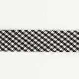 Biais mini vichy 36/18 noir