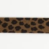 Biais léopard fond chocolat 36/18