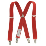 Bretelle enfant unie 25mm 70cm rouge - 62