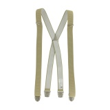 Bretelle striée pince 25mm 120cm beige - 62