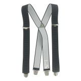 Bretelle striée pince 35mm 110cm gris foncé - 62