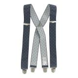 Bretelles tissées 35mm 110cm bleu - 62