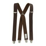 Bretelles tissées qualité sup 35mm marron - 62