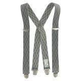 Bretelles tissées qualité sup 35mm gris clair - 62