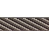 Bretelle biclip rayée marron - 62