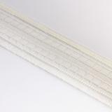 Ruban plisplat 70mm blanc