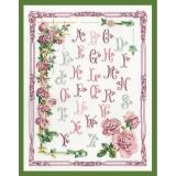 Abécédaire aux roses 38/48cm - 64