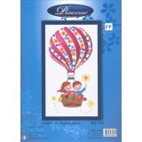 Tableau montgolfiere fleurie 30/40 - 64