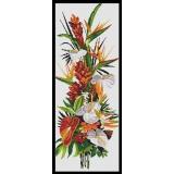 Fleurs exotiques - aida blanche 25/60 - 64