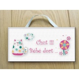 Plaque de porte chat - 64