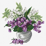 Muguet et violettes - 64