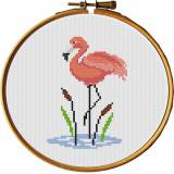 Tableautin flamant rose - 64
