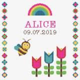 Tableau de naissance  abeille - 64
