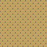 Tissu eventail turquoise - 64