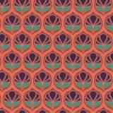 Tissu floral corail - 64