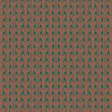 Tissu tresses corail pétrole d2 - 64