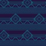 Tissu imprimé gamme azteque nuit - 64