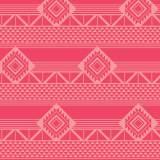 Tissu imprimé gamme azteque rouge - 64