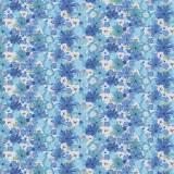 Tissu Bouquet bleuet - 64