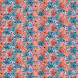 Tissu Bouquet cosmos - 64