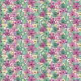 Tissu Bouquet Pensee - 64