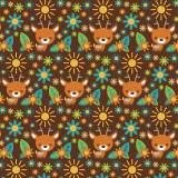 Tissu Cerfs chocolat - 64