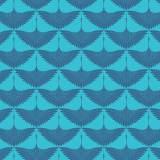 Tissu imprimé gamme envol bleu - 64