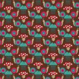 Tissu Escargots chocolat - 64