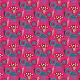 Tissu Escargots fushia - 64