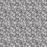 Tissu fleurettes gris - 64
