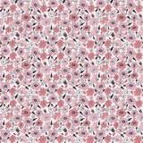 Tissu fleurettes rose - 64