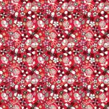Tissu fleurettes coquelicot - 64