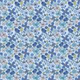 Tissu fleurettes bleuet - 64