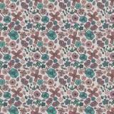 Tissu fleurettes perle - 64