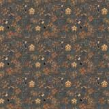 Tissu fleurettes chataigne - 64