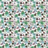 Tissu fleurettes Tissu prairie - 64