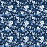 Tissu fleurettes marine - 64