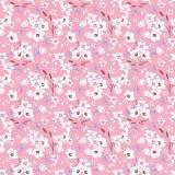 Tissu fleurettes guimauve - 64