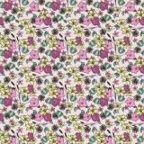 Tissu fleurettes Tissu pensee - 64