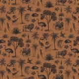 Tissu Gravures anciennes fauve - 64