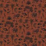 Tissu Gravures anciennes roux - 64