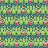 Tissu Hiboux nuit - 64