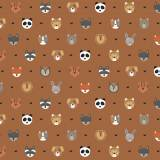 Tissu petits  animaux fauve - 64