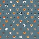 Tissu petits  animaux baltique - 64