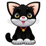 Coussin chat noir - 64