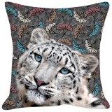 Coussin panthere des neiges - 64