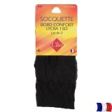 Socquette lycra t.u.-lot 2-noir - 66