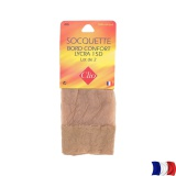Socquette lycra t.u.-lot 2-camel - 66