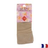 Mi-bas coton opaque t.u. beige - 66