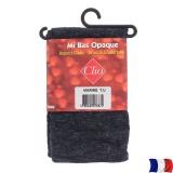Mi-bas coton opaque chiné t.u.marine - 66